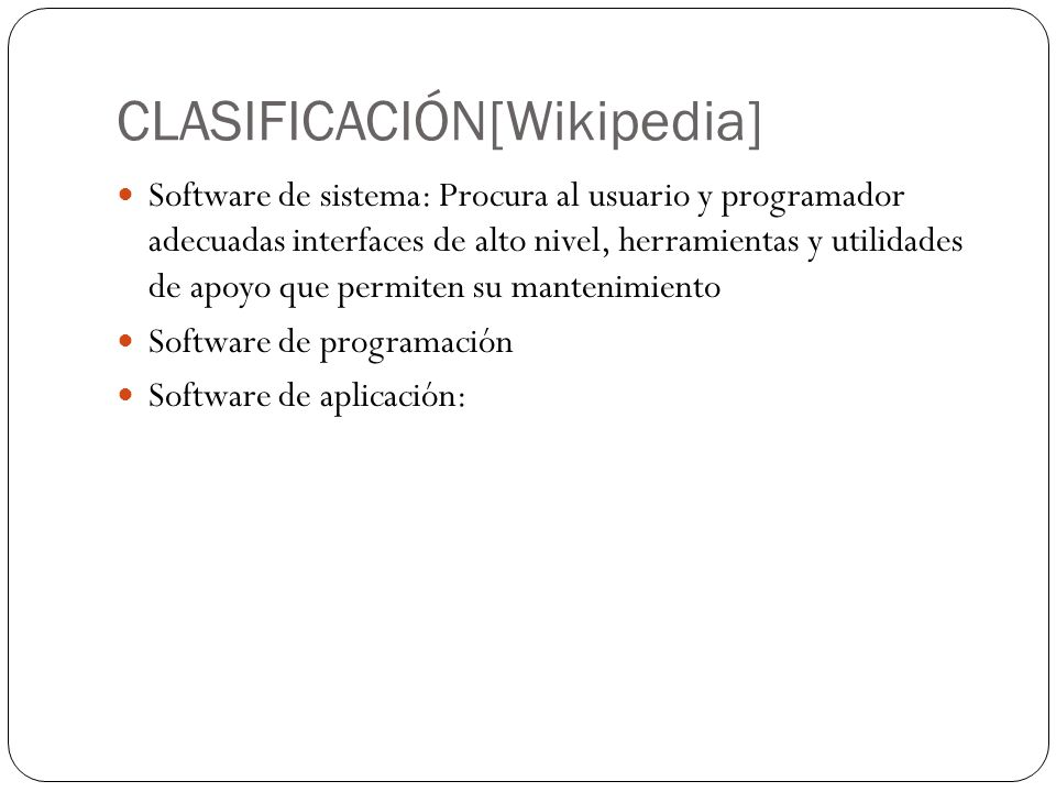 CLASIFICACIÓN[Wikipedia]